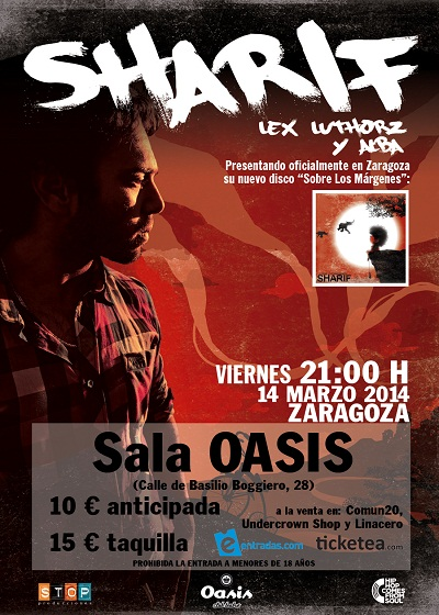 Sharif noticia zgz conciertos for Sala oasis zaragoza