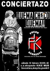 FREAK KENNEDYS - QUEMA CHICO QUEMA!! @ centro social okupado Kike Mur