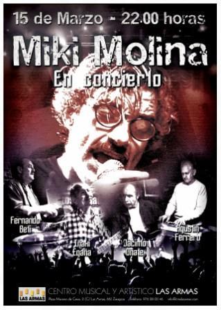 Concierto Miki Molina 15 marzo