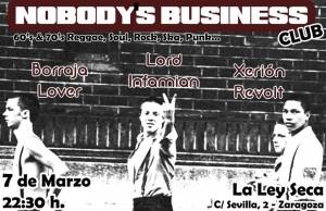 NOBODY´S BUSINESS @ La Ley Seca | Zaragoza | Aragón | España
