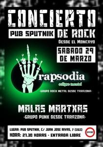 RAPSODIA Y MALAS MARTXAS @ Sputnik Zaragoza  | Zaragoza | Aragón | España