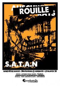 S.A.T.A.N. + ROUILLE @ AVV Arrebato | Zaragoza | Aragón | España