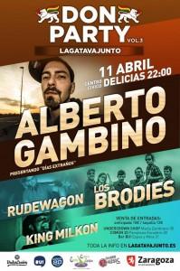DON PARTY vol.III Alberto Gambino + Los Brodies + Rudewagon + King Milkon @ CENTRO CÍVICO DELICIAS | Zaragoza | Aragón | España