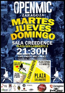 OPEN MIC CREEDENCE @ SALA CREEDENCE | Zaragoza | Aragón | España