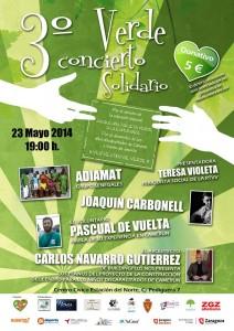 3º CONCIERTO VERDE SOLIDARIO @ Centro Cívico Estación Del Norte  | Zaragoza | Aragón | España