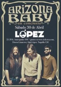 ARIZONA BABY @ SALA LÓPEZ | Zaragoza | Aragón | España