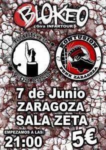 BLOKEO + KONTUSION + LA ULTIMA Y PA CASA @ SALA ZETA | Zaragoza | Aragón | España