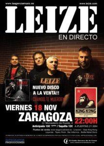 LEIZE @ SALA KING KONG | Zaragoza | Aragón | España