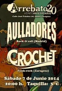 AULLADORES + CROCHET @ SALA ARREBATO | Zaragoza | Aragón | España