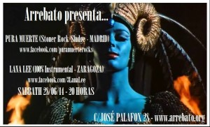 PURA MUERTE + LANA LEE  @ AVV Arrebato Calle José Palafox 28, 50001 Zaragoza | Zaragoza | Aragón | España