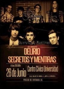 DELIRIO + SECRETOS Y MENTIRAS @ Centro Cívico Universidad | Zaragoza | Aragón | España
