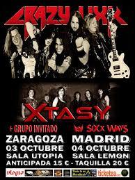 CRAZY LIXX + XTASY + ROCKET QUEEN @ SALA UTOPÍA | Zaragoza | Aragón | España