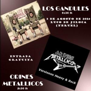 LOS GANDULES + ORINES METALLICOS @ Plaza de Luco de Jiloca, Teruel | Luco | Aragón | España