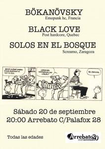 BÖKANÖVSKY + BLACK LOVE + SOLOS EN EL BOSQUE @ AVV Arrebato  | Zaragoza | Aragón | España