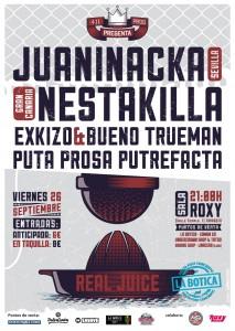 JUANINACKA + NESTAKILLA + EXKIZO  @ SALA ROXY | Zaragoza | Aragón | España