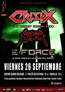 CRISIX + SKATOR + E-FORCE @ Centro Civico Las Delicias | Zaragoza | Aragón | España