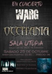 WARG + OCCITANIA @ SALA UTOPÍA | Zaragoza | Aragón | España