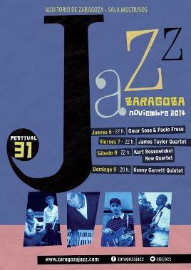 Cartel 31 Festival Jazz Zaragoza 2014