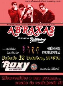ABRAXAS TRIBUTO BURNING + FENÓMENOS PARANORMALES @ SALA ROXY | Zaragoza | Aragón | España