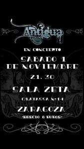 ANTIGUA ROCK @ Sala Zeta | Zaragoza | Aragón | España