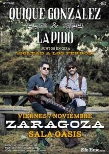 QUIQUE GONZALEZ + LAPIDO @ SALA OASIS | Zaragoza | Aragón | España