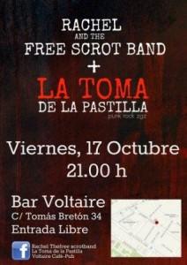 RACHEL AN THE FREE SCROT BAND + LA TOMA DE LA PASTILLA @ BAR VOLTAIRE | Zaragoza | Aragón | España