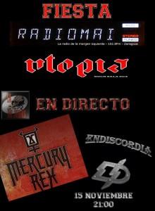 MERCURY REX + ENDISCORDIA @  Utopía Sala Zaragoza | Zaragoza | Aragón | España