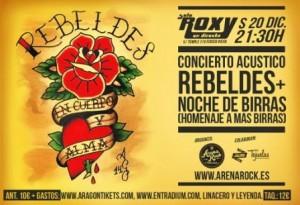 REBELDES + NOCHE DE BIRRAS @ SALA ROXY | Zaragoza | Aragón | España
