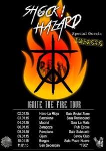 SHOCK! HAZARD + IMPACTO + THE HARD MAMA @ PUB ECCOS  | Zaragoza | Aragón | España