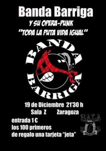 BANDA BARRIGA @ Sala Zeta | Zaragoza | Aragón | España