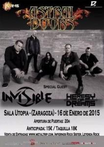 ASTRAL DOORS + INVISIBLE + HERESY OF DREAMS @ UTOPÍA | Zaragoza | Aragón | España