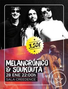 MELANCRÓNICO & SOUKOUTA @ Sala Creedence | Zaragoza | Aragón | España