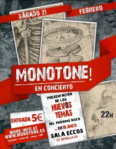 MONOTONE @ PUB ECCOS | Zaragoza | Aragón | España