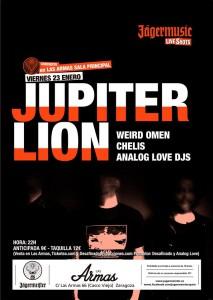 JUPITER LION + WEIRD OMEN + ANALOG LOVE DJs @ Centro Musical y Artístico Las Armas | Zaragoza | Aragón | España