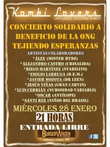 CONCIERTO SOLIDARIO EN BENEFICIO DE TEJIENDO ESPERANZAS @ Burguer Wagen Zaragoza  | Zaragoza | Aragón | España