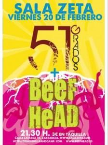 51 GRADOS + BEEFHEAD @ SALA ZETA | Zaragoza | Aragón | España
