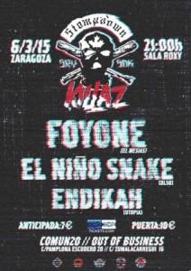 FOYONE + EL NIÑO SNAKE + ENDIKAH @ SALA ROXY   Zaragoza   Aragón   España