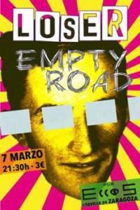 LOSER + EMPTY ROAD @ PUB ECCOS  | Zaragoza | Aragón | España