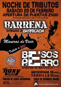 BESOS DE PERRO + LOS BARRENA @ Sala Roxy | Zaragoza | Aragón | España