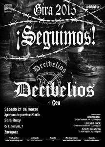 DECIBELIOS + GEN @ LA CASA DEL LOCO | Zaragoza | Aragón | España