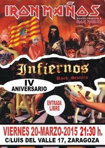 IRON MAÑOS Fiesta Aniversario  Infiernos Rock Sisters @ Infiernos Rock Sisters | Zaragoza | Aragón | España
