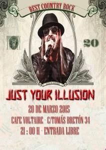 JUST YOUR ILLUSION @ Café Voltaire | Zaragoza | Zaragoza | España