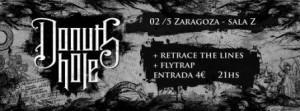 FLYTRAP + DONUTS HOLE + RETRACE THE LINES @ SALA ZETA | Zaragoza | Aragón | España