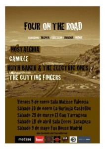 NOSTALGHIA + CAMILLE + RUTH BAKER & THE ELECTRIC ONES + THE CUTTING FINGERS @ PUB ECCOS | Zaragoza | Aragón | España