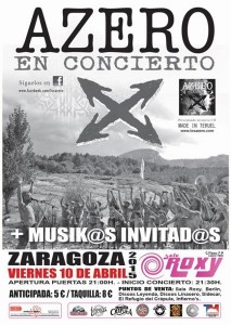 AZERO @ Sala Roxy | Zaragoza | Aragón | España