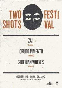 TWO SHOTS FESTIVAL: Za! + Crudo Pimiento + Siberian Wolves @ Sala López | Zaragoza | Aragón | España