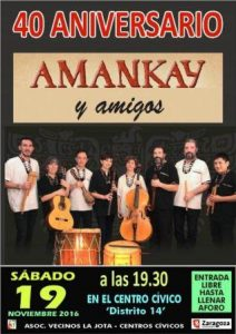 AMANKAY @ CENTRO CIVICO DISTRITO 14 | Zaragoza | Aragón | España
