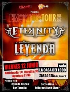 LEYENDA + ETERNITY @ LA CASA DEL LOCO | Zaragoza | Aragón | España