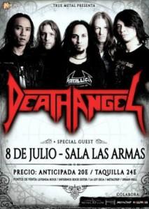 DEATH ANGEL + AGRESIVA + IMPRUDENT KILLER @ LAS ARMAS | Zaragoza | Aragón | España