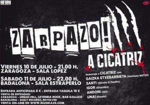 ZARPAZO! A CICATRIZ @ SALA LOPEZ | Zaragoza | Aragón | España